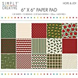 "Premium Craft Paperstock Simply Creative 6x6"" Hope & Joy Scrapbook Paper"
