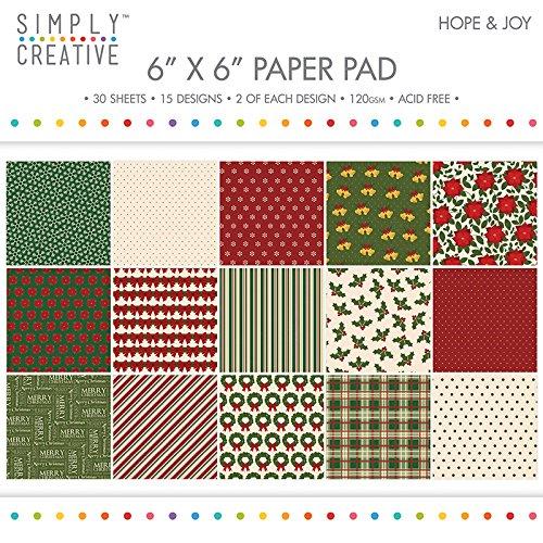 "Premium Craft Paperstock Simply Creative 6x6"" Hope & Joy Scrapbook Paper"