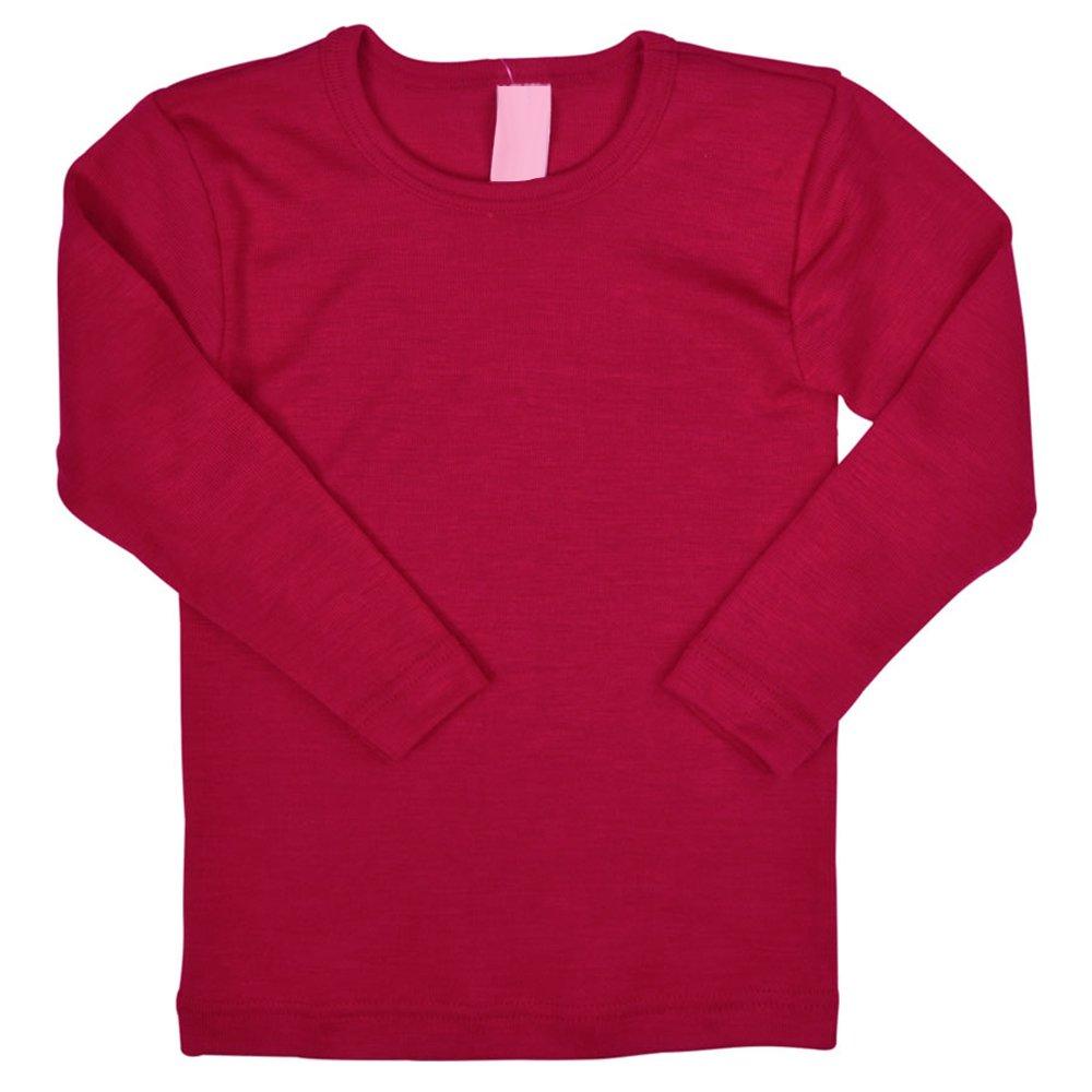 Kids Long Sleeve Thermal Shirt Base Layer or Pajama Top, Organic Merino Wool Silk, Sizes 2-10 years Engel