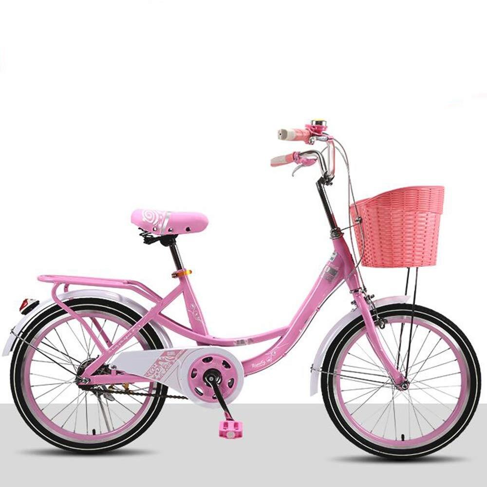 Axdwfd Bici per Bambini Biciclette per Bambini, Bicicletta per Bambini 16 20 Pollici Ragazzo e Ragazza in Bicicletta, Adatto per Bambini da 2 a 11 Anni rosa, Viola, verde, rosa Intenso