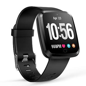 Reloj Inteligente Bluetooth 4.0, Pulsera Inteligente de Actividad Deportiva con Monitor de frecuencia Cardíaca para Android e iOS: Amazon.es: Electrónica