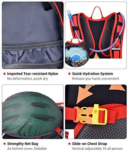 18L Fahrradrucksack mit Regenschutz Wasserdichte Leichter Wanderrucksack Outdoor Ultraleicht Sportrucksack für Radsport, Blau