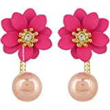 Jewels Galaxy Luxuria Limited Edition AAA AD Floral Design Stunning Earrings Collection For Women/Girls