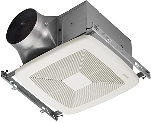 Broan-Nutone ZB80 ULTRA GREEN Multi-Speed Ventilation Fan, Ceiling Room-Side Installation Bathroom Exhaust Fan, ENERGY STAR Certified, 0.3 Sones, 80 C