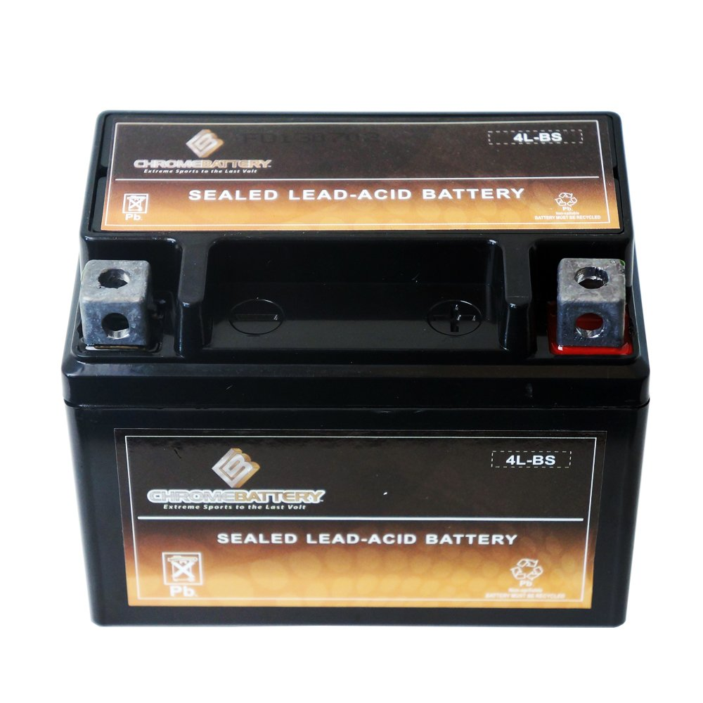 YTX4L-BS High Performance Power Sports Battery Chrome Battery