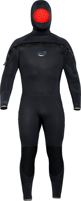 Bare 8/7 mm Velocidad Ultra con capucha traje semiseco ...