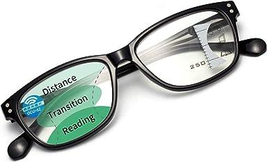 LianSan Womens Progressive Multifocal Blue Light Blocking Reading Glasses Computer Readers with Spring Hinge for Women