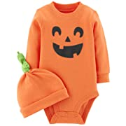 Carter's 2-Piece Pumpkin Hat and Collectible Bodysuit 6 Months