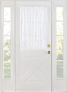 Stylemaster Home Products Stylemaster Splendor Batiste Door Panel, 56 By  40 Inch, White  Magnetic Curtain Rod