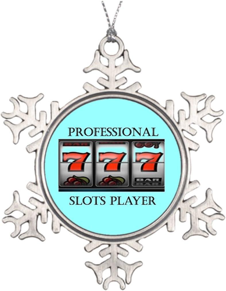 Marty Q Casino Personalised Christmas Tree Decoration Slot Machine Best Friend Snowflake Ornaments