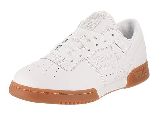 Fila Hombres Blanco/Gum Original Fitness Premium Zapatillas-UK 11: Amazon.es: Zapatos y complementos
