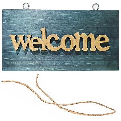 Cartel de bienvenida con cuerda para tienda de casa ...