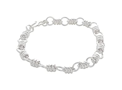f8edff7cbdd574 ARISIDH Genuine 92.5 Pure Original Sterling Silver Bracelet for Men and Boys.:  Amazon.in: Jewellery