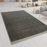 Hand-Woven Rug Flat Weave Scandinavian Look Mottled Woven Pattern In Grey, Size:120x170 cm