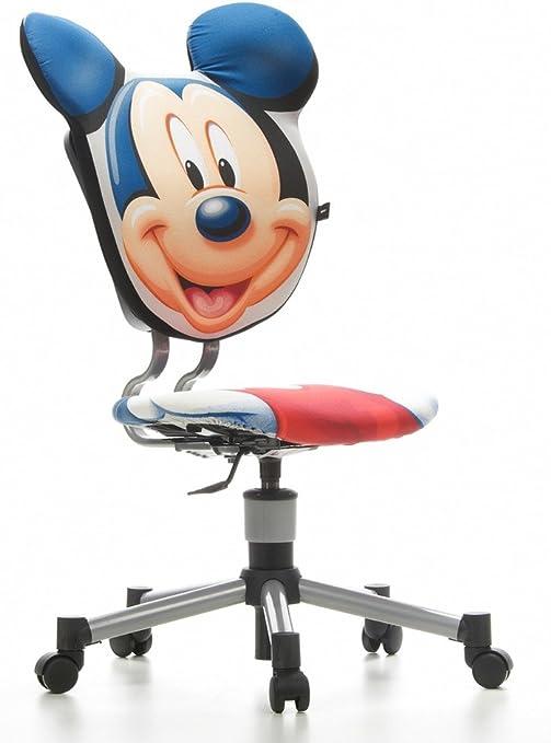 Children S Office Swivel Chair 3d Star Mickey Mouse Fabric Amazon De Küche Haushalt