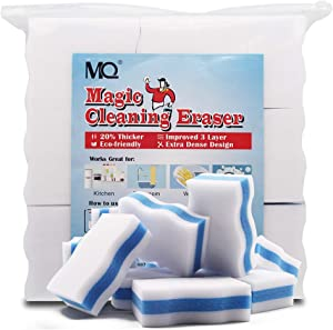 MQ 30/60 Pack Extra Durable Magic Cleaning Eraser Pads - Works Great for Sink, Bathtub, Glass, Mirrors, Floor, Furniture, Wall, Shoes, Kitchen, Bathroom and Car, Melamine Sponges for All Surface (30)