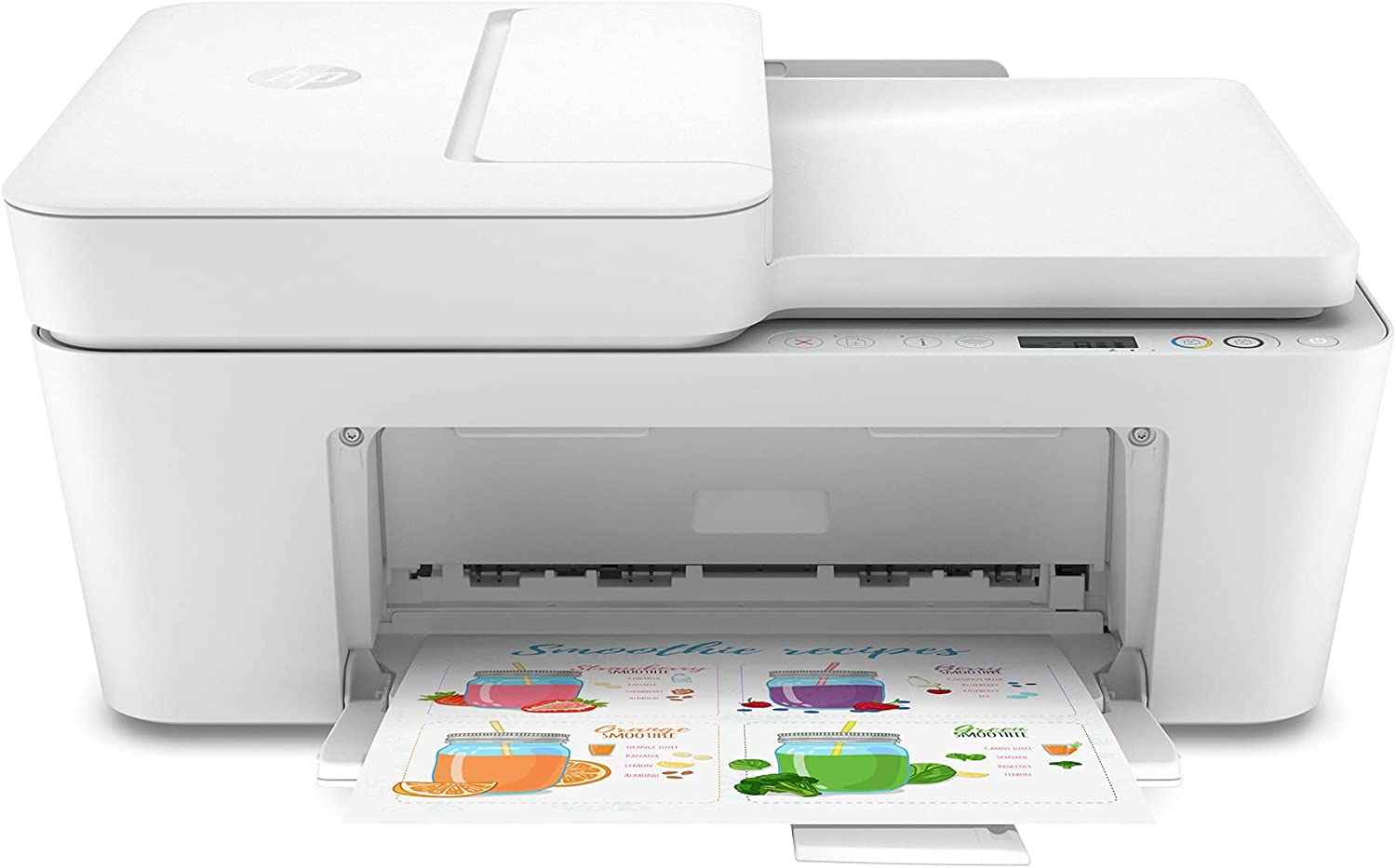 HP DeskJet Plus Series All-in-One Wireless Bluetooth Color Inkjet Printer - Instant Ink Ready - Mobile Fax, Print, Copy, Scan for Home Office - 35 Sheets ADF, Auto 2-Sided Printing, Icon LCD Display