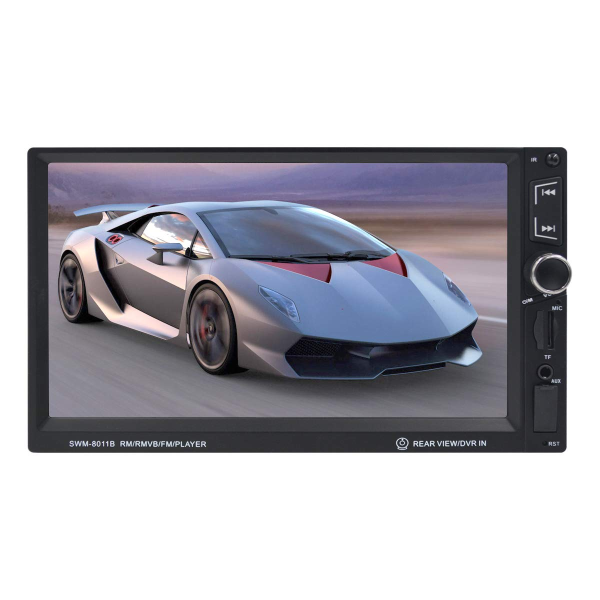 "Car Accessory with Backup Camera Touch Screen Bluetooth Radio with Aux Audio Input and MP3 Capabilities 7/"" Double Din Car Stereo Unplug SANGAR ELECTRONICS"