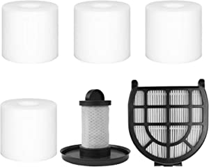 4 Pack Foam & Felt Filters, 1 Pre-Motor Filter & 1 Post-Motor Hepa Filter for Shark LZ600, LZ601, LZ602, LZ602C APEX UpLight Lift-Away DuoClean Vacuum Cleaner. Compare to Part # XFFLZ600 & XHFFC600.