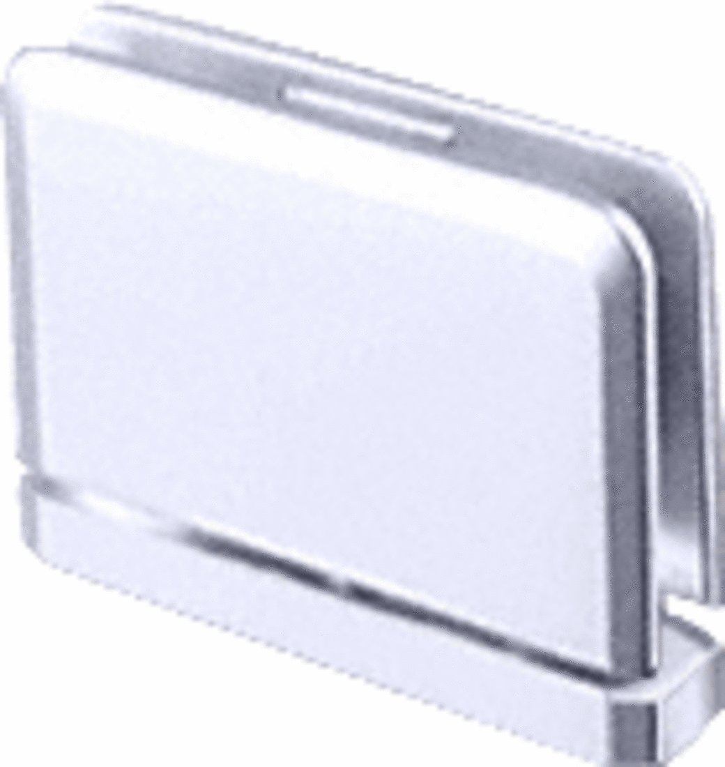 C.R LAURENCE PPH01CH CRL Polished Chrome Prima 01 Series Top or Bottom Mount Hinge