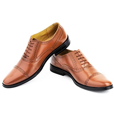 62c791b2fad0f LOUIS STITCH Men's Formal Leather Oxford Shoes    Handmade Genuine Leather  Shoes for Men    Featherly Comfortable Gunmetal Strong (Prague_OX)
