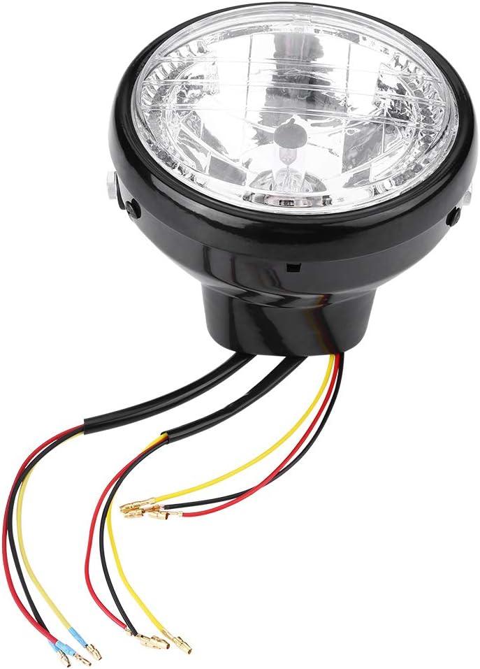 7 Motorcycle Headlight Universal Motorcycle Motorbike Headlight Turn Signal Light Bulb with Bracket