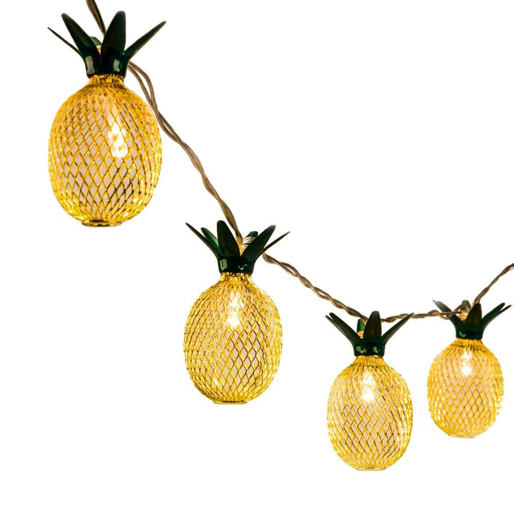 Pineapple String Lights 5ft 10LED Outdoor Fairy String Light Battery Powered Lighting for Garden Patio Path Landscape Home Wedding Party Bedroom Birthday Christmas Decoration Warm White