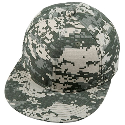- Samtree Unisex Snapback Hat,3D Camo Leaves Printed Outdoor Hunting Flat Brim Baseball Cap (03-US ACU Digital Camo)