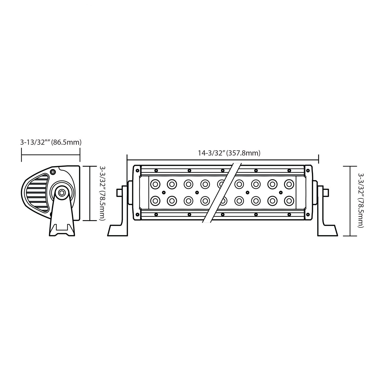"Amazon.com: PIAA 26-06612 QUAD SERIES 12"" Spot Beam LED Bar Kit: Automotive"