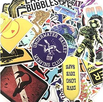 ayuv 60 St/ücke Cartoon Outdoor Tauchen Aufkleber F/ür Koffer Skateboard Laptop Gep/äck K/ühlschrank Telefon Auto Styling DIY Aufkleber Aufkleber