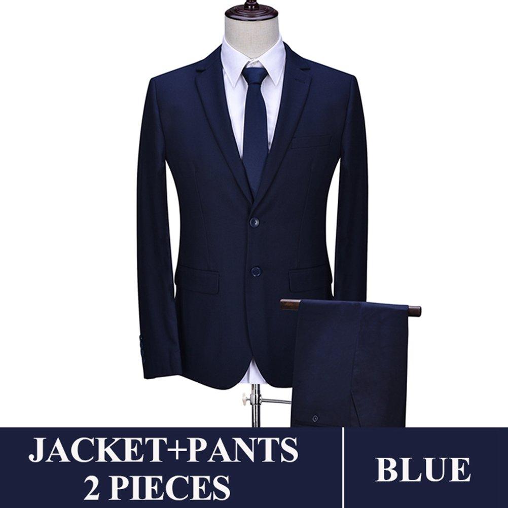 577Loby Men Business Suit Slim Fit Classic Male Suits Blazers Suit Two Buttons 2 Pieces(Suit Jacket+Pants)