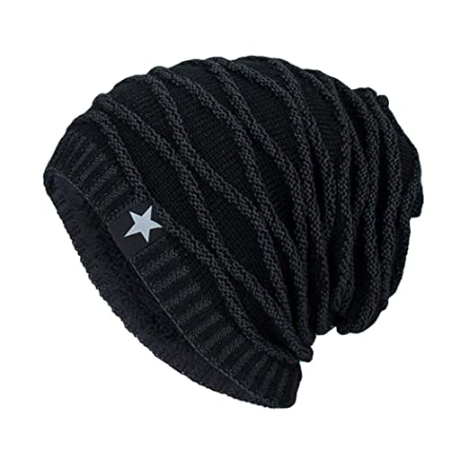 e3b633abd047d0 Hunputa Womens Hat Winter, Beanie Hat for Men and Women Winter Warm Hats  Knit Slouchy
