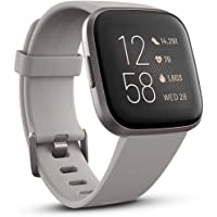 Fitbit FB507GYSR-FRCJK Versa 2 Premium Health and Fitness Smartwatch, Stone/Mist Grey