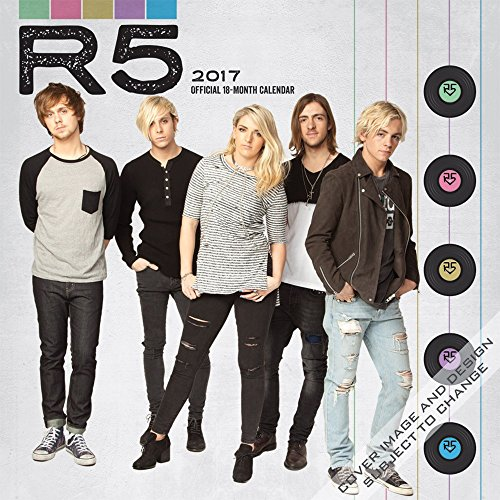 "2017 R5 ""R5"" Wall Calendar {jg} Best Holiday Gift Ideas - Great for mom, dad, sister, brother, grandparents, , grandchildren, grandma, gay, lgbtq."