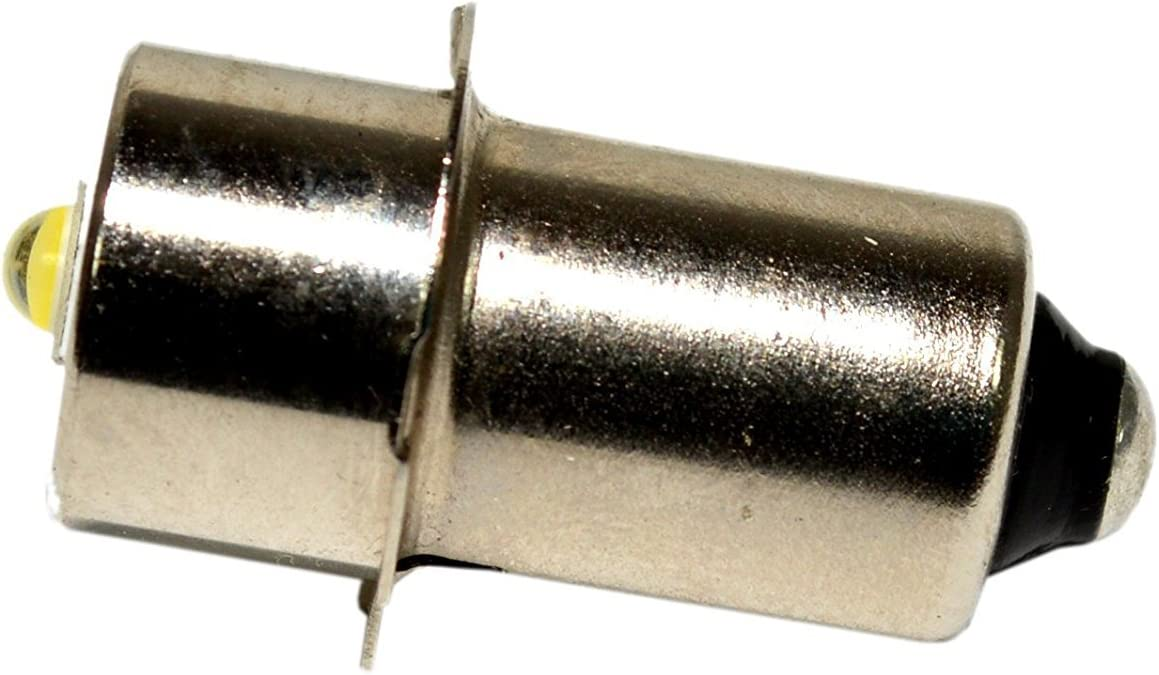 HQRP High Power Upgrade Bulb 3W LED 100LM Compatible with 12 14.4 18 Volt Hitachi Ryobi Skil Makita Craftsman Bosch Porter Cable Dewalt Milwaukee Ridgid Flashlight