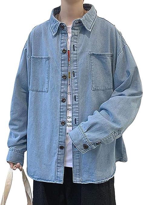 (シジャァーノ)シャツジャケット メンズ 春秋 gジャン おしゃれ カップル シャツ シンプル デニムシャツ ゆったり ブルゾン ジャケット シンプル シャツ おしゃれ