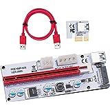HENGBIRD PCI-E 1X to 16X ライザー エクステンダーカード USB 3.0 PCI-E Express 拡張子ケーブル ビットコイン採掘 マイニング 4pin 6Pin PCI-Eと15Pin SATA 1個セット