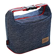 Lunch Bag Insulated Cooler Box - Rayhee Reusable Handbag Lunch Tote Bags for Women / Men / Kids