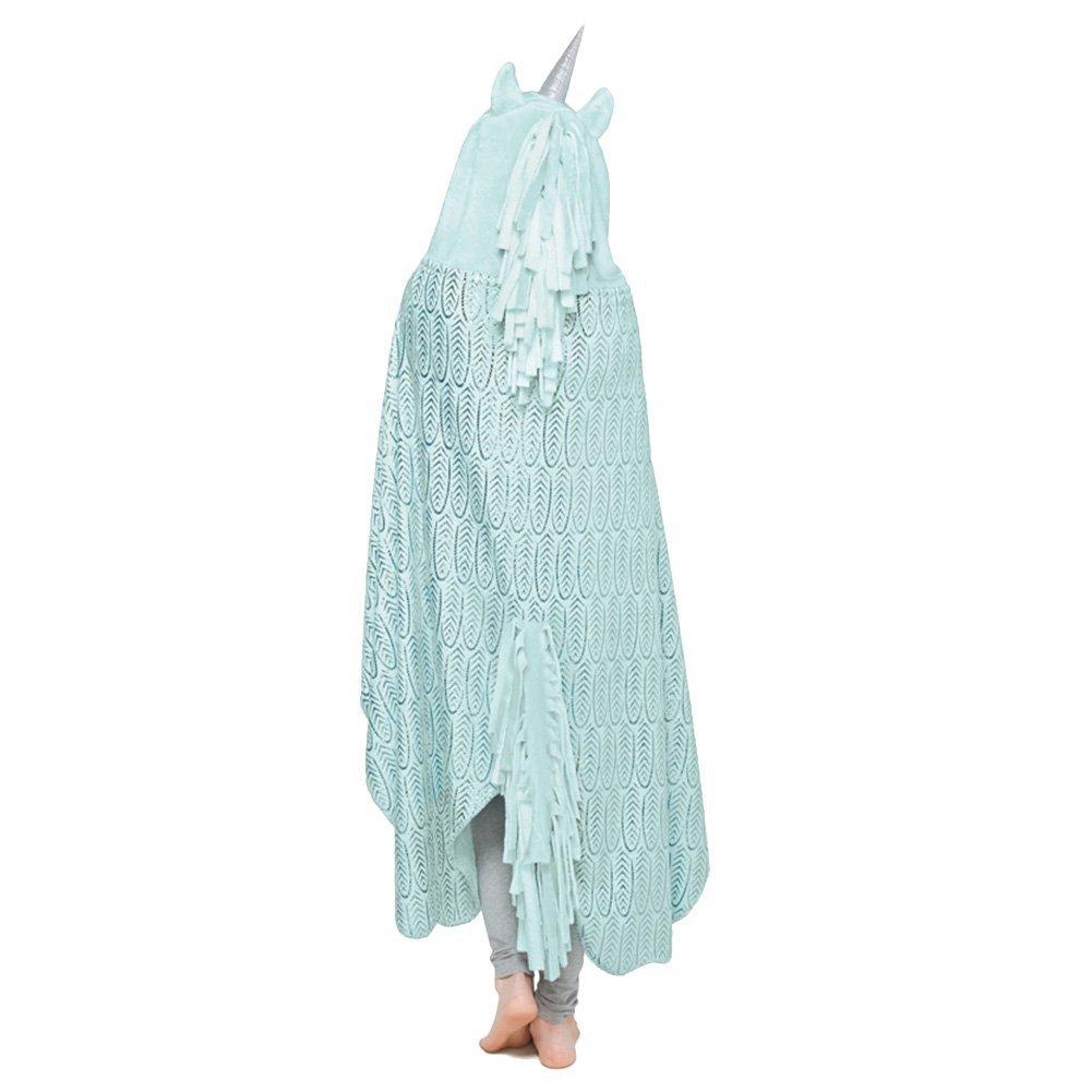 Wearable manta, unicornio Cozy manta capa, suave forro polar manta ...