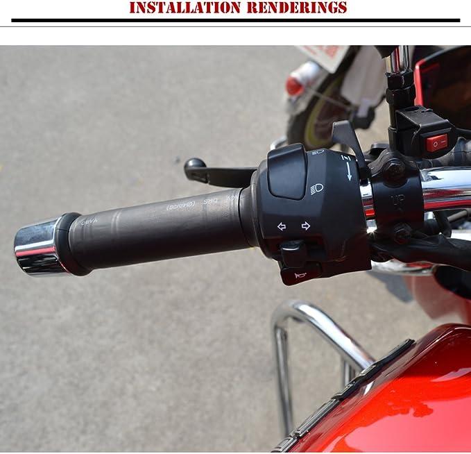 Paar 12 V Motorrad Atv Beheizte Grip Einsatz Lenker Handwärmer Griff Heizung Pad Auto