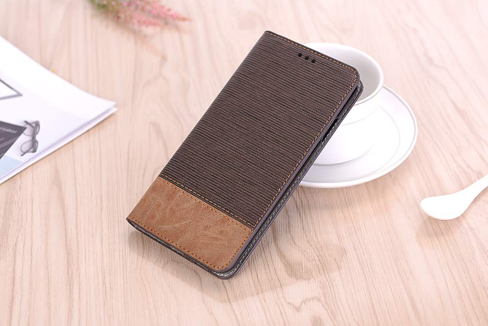 Case for iPhone XR,Miya Premium Pu Leather Case with Card Slot Cash Holder Pockets Kickstand Smart Case Folio Flip Shockproof Protective Cover for Ladies Men Girls for Apple iPhone XR - Dark Brown by MIYA LTD (Image #8)