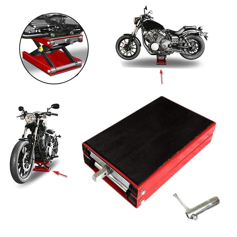 Roadstar 1100LBS Wide Deck Motorcycle Scissor Jack Floor Stand Hoist Lift for Stand ATV Dirt Bike