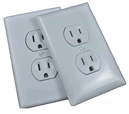 Ozzy\'s Fake Stick-on Power Outlet-- 2 Pack White 3\