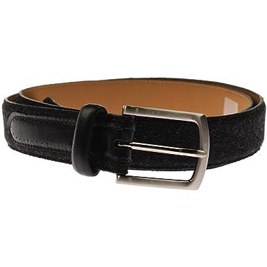 659c25a739b4 Tasso Elba Feather Edge Men's Belt Black at Amazon Men's Clothing store: