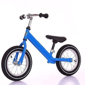 LIWORD Juguete para Niños De 12 Pulgadas Rueda para Patinaje De 2 Ruedas Caminata para Niños Acero De Alto Carbono Sin Pedal,Blue: Amazon.es: Deportes y ...
