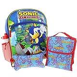 Sonic the Hedgehog 5 piece Backpack School Set