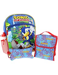 Sonic the Hedgehog 5 piece Backpack School Set