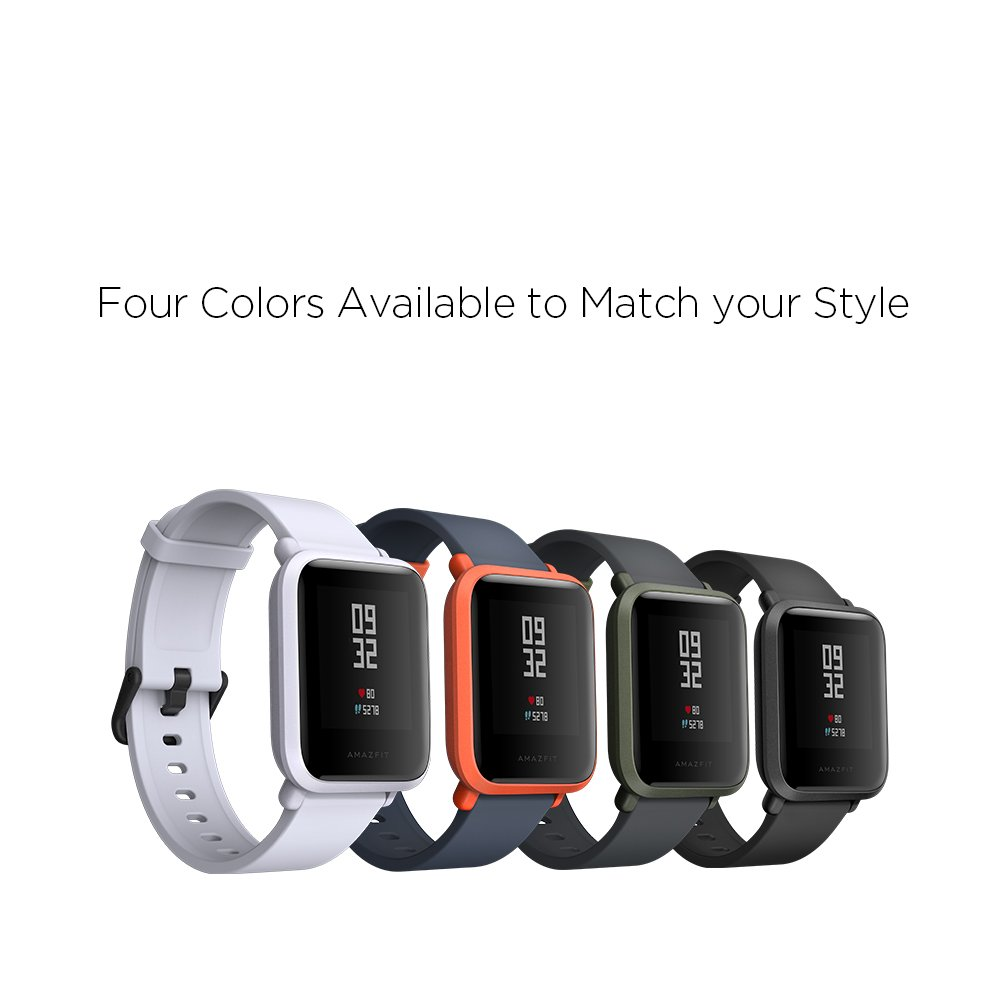 Amazfit Bip Smartwatch by Huami with All-day Heart Rate and Activity Tracking, Sleep Monitoring, GPS, Ultra-Long Battery Life, Bluetooth, US Service and Warranty (A1608 Green) by Amazfit (Image #8)