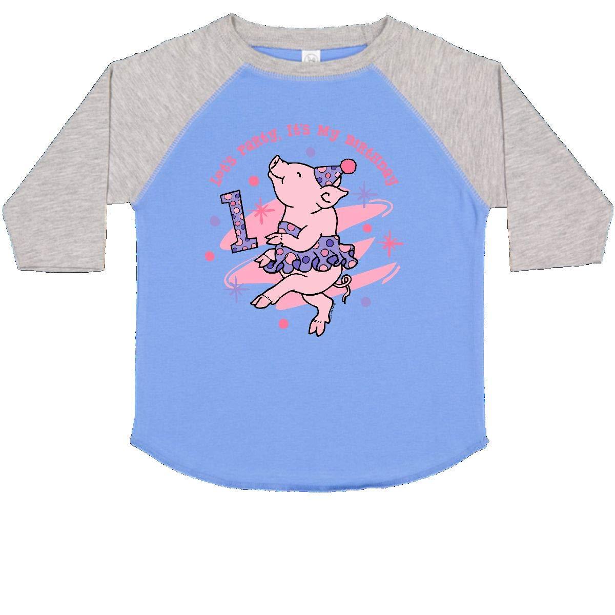 inktastic Tutu Piggy 1st Birthday Toddler T-Shirt