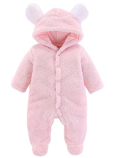 cf21a7e11 BANGELY Newborn Baby Winter Thicken Cartoon Sheep Snowsuit Warm ...